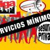 ALTERNATIVASINDICAL DENUNCIA LOS SERVICIOS MÍNIMOS ABUSIVOS IMPUESTOS POR LAS EMPRESAS PROSEGUR EN TODOS LOS SERVICIOS INDITEX EN MADRID, OMBUDS EN METRO DE MADRID Y MARSEGUR EN LA TESORERÍA DE LA SEGURIDAD SOCIAL DE MADRID.