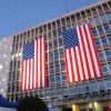 Concentracion en la Embajada de Estados Unidos