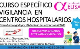DESCUENTOS CURSOS DE FORMACIÓN PARA AFILIADOS. CURSO ESPECÍFICO DE VIGILANCIA EN CENTROS HOSPITALARIOS