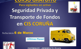 Curso GRATUITO para trabajadores en activo del Sector de la Seguridad Privada, de empresas de más de 100 trabajadores. ¡ÚLTIMAS PLAZAS!