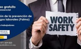 Adjuntamos información del PRÓXIMO CURSO GRATUITO para trabajadores, es formación del SOIB y totalmente gratuita.  PREVENCIÓN DE RIESGOS LABORALES.