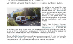 Un vigilante de seguridad, herido por arma blanca en un centro médico de Sevilla