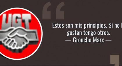 """""""UGT CRITICA"""" LA DECISIÓN DE LA JUNTA DE ANDALUCIA DE CUBRIR 3.000 PUESTOS DE VS, EN UN ESCRITO REDACTADO POR LA PATRONAL. AYER DEFENDÍAN LA FIGURA DEL VIGILANTE MUNICIPAL. Y ES QUE COMO DIJO GROUCHO MARX."""