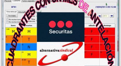 SECURITAS PIERDE NUEVAMENTE ANTE ALTERNATIVASINDICAL EN LOS JUZGADOS SU PATALETA DE RECURSO PRESENTADO CONTRA LA SENTENCIA DEL SUPREMO E INSTA A QUE INMEDIATAMENTE ENTREGUE LOS CUADRANTES CON UN MES DE ANTELACIÓN