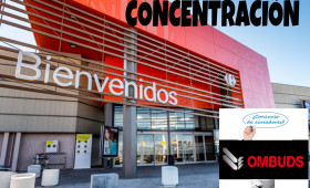 ALTERNATIVASINDICAL PRESENTA CONCENTRACIÓN ANTE LOS CENTROS COMERCIALES DE CARREFOUR EN SAN JUAN DE AZNALFARACHE ANTE LOS IMPAGOS DE OMBUDS