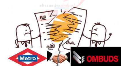 CELEBRADO SIN ACUERDO EL ACTO DE CONCILIACIÓN PREVIO A JUICIO CONTRA METRO DE MADRID Y OMBUDS POR LOS IMPAGOS DE SALARIOS