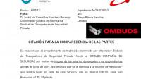 OMBUDS CITADA ANTE EL SERVICIO INTERCONFEDERAL DE MEDIACIÓN Y ARBITRAJE, DEBIDO A LA DEMANDA PRESENTADA ANTE LA AUDIENCIA NACIONAL POR ALTERNATIVASINDICAL