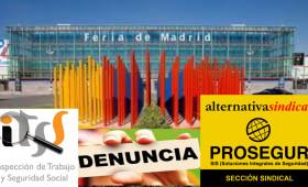 ALTERNATIVA SINDICAL INTERPONE DENUNCIA CONTRA PROSEGUR EN IFEMA.