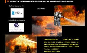 CURSO ESPECIALISTA EN SEGURIDAD EN ATMÓSFERAS EXPLOSIVAS E INCENDIO