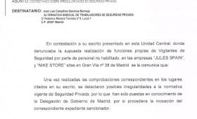 Denuncias por intrusismo a JULES SPAIN y NIKE STORE