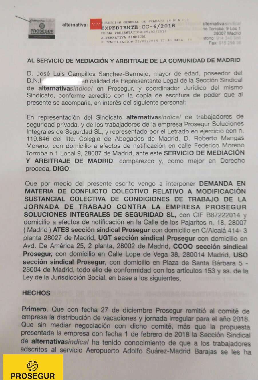LA SECCIÓN SINDICAL DE ALTERNATIVASINDICAL INTERPONE CONFLICTO ...