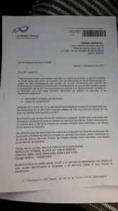 Comunicación de la Fundación Estatal para la Formación a Loomis Spain SL (1)