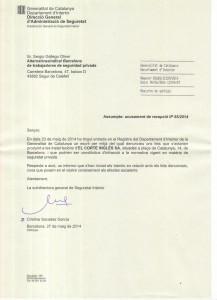 Confirmación Corte Inglés Plaza Catalunya