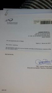 Contestacion Fundación Estatal para la Formación al comité de empresa de Loomis en Sevilla