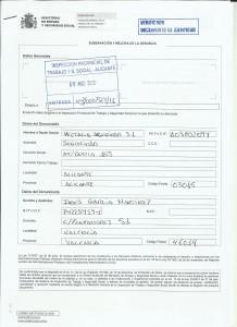 Denuncia Vectalia Inspección de Trabajo denegación Sección Sindical