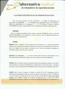 Denuncia Vectalia ante Inspección de Trabajo denegación Sección Sindical (2)