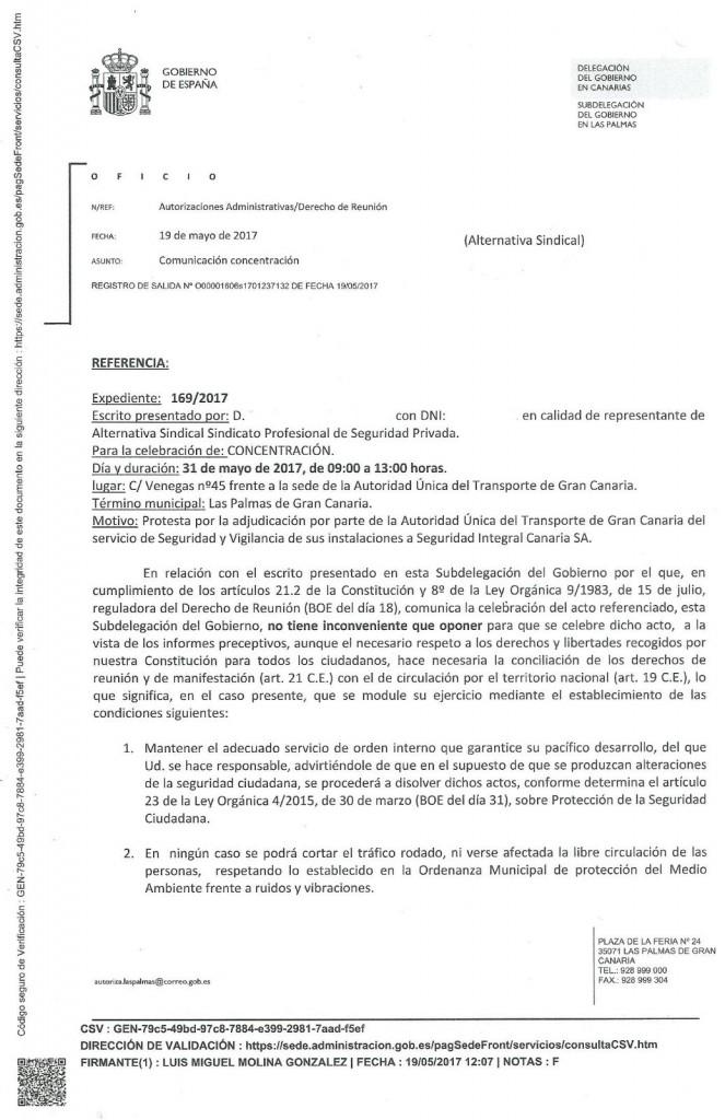 Escrito en contra de SIC Cabildo de GC.