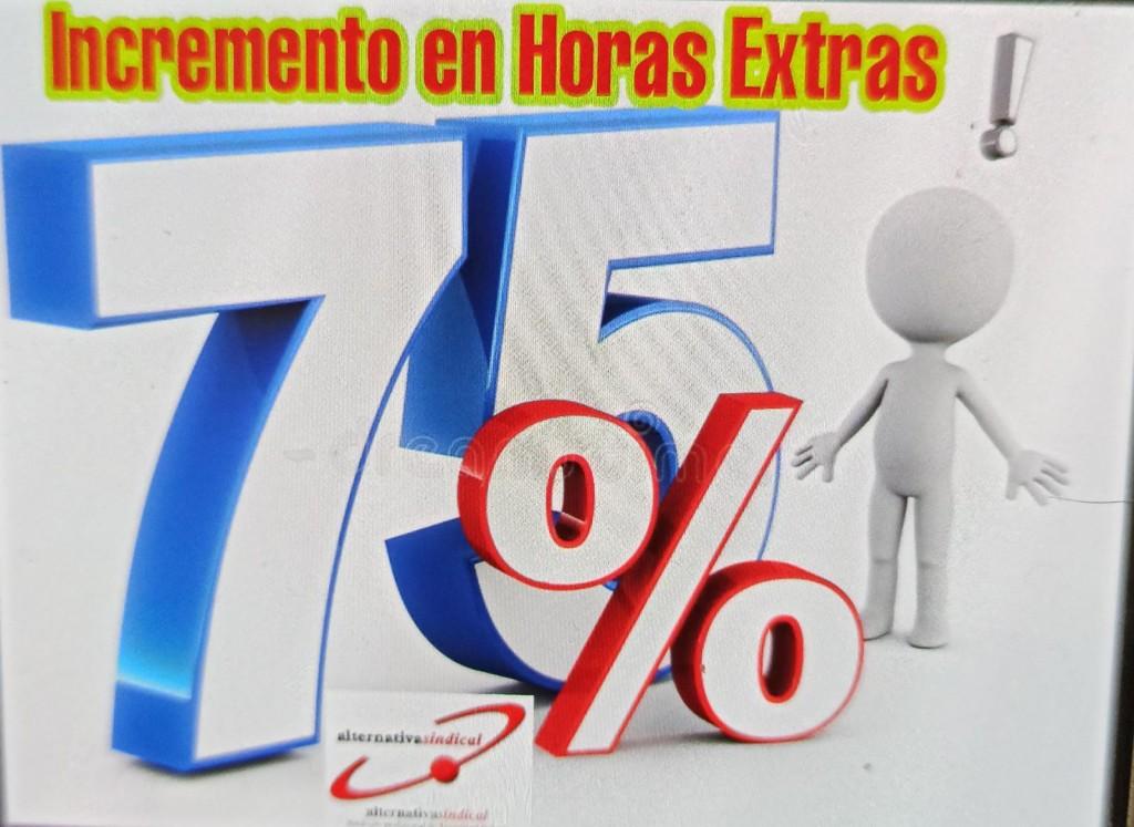 75% HORAS EXTRAS