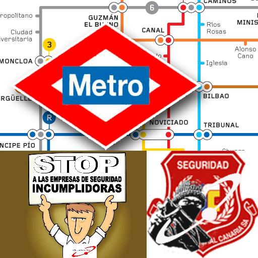 Stop seguridad integral Canaria  en Metro de Madrid