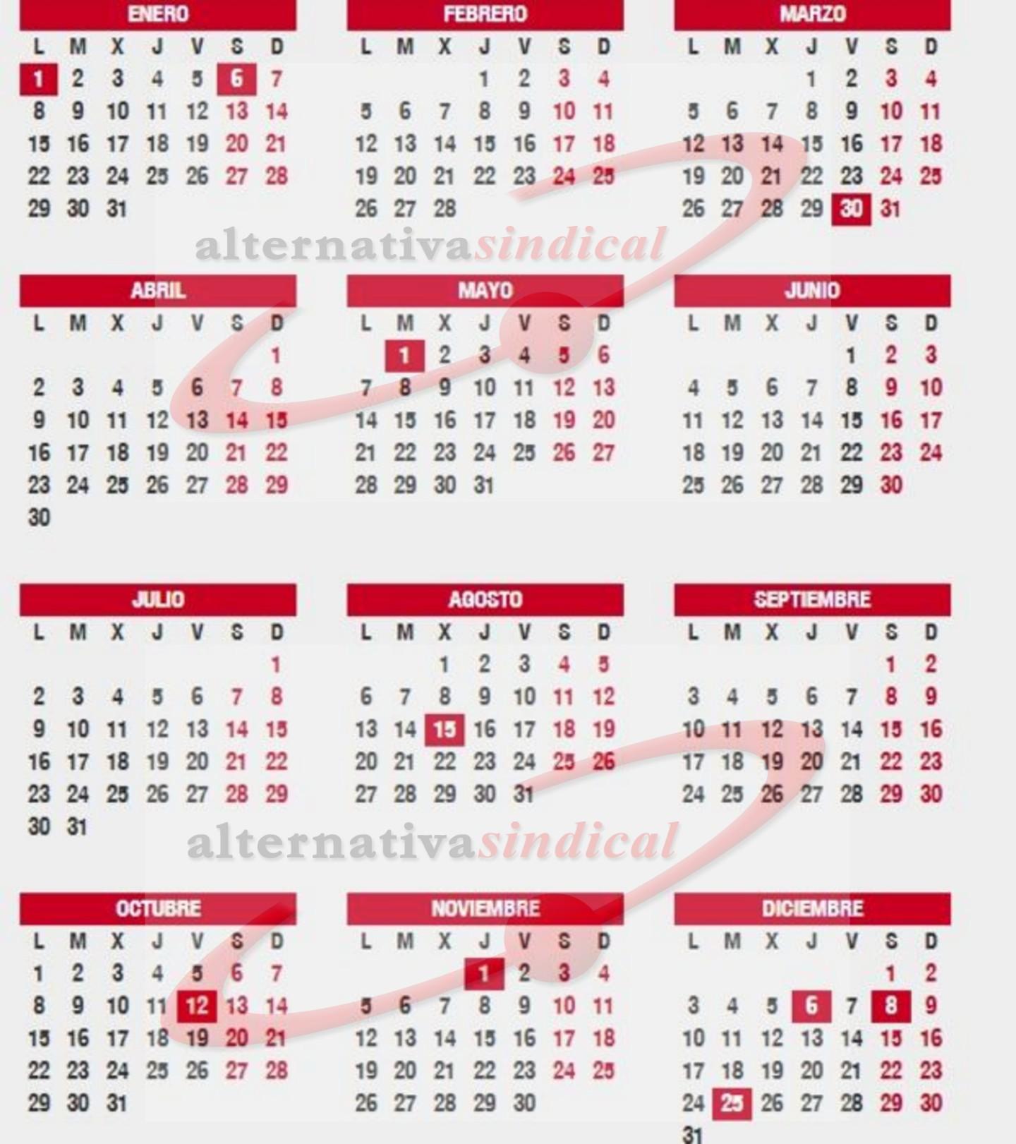 Calendario Laboral 2019 Andalucia.Calendario Laboral 2018 2019 Festivos Puentes Y Navidad
