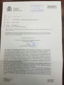 Resolución Inspectora contra SIC en A Coruña