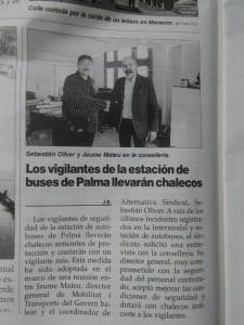 Sebastián Oliver con el director general de Movilidad y Transporte del Gobierno Balear