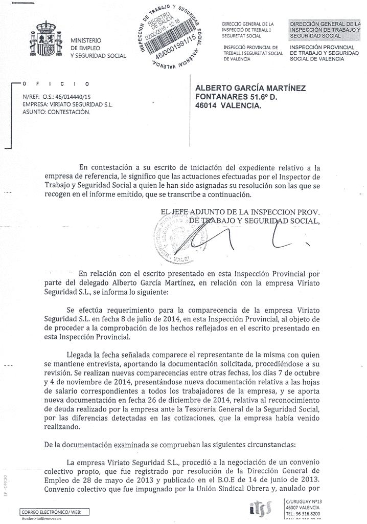 Viriato seguridad es sancionada por la inspecci n de for Trabajo decorador valencia
